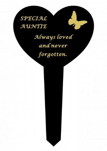 Graveside Memorial Butterfly Stake SPECIAL AUNTIE DF17917W